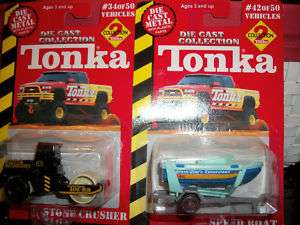 TONKA DIE CAST 2000 MIP SPEED BOAT STONE CRUSHER