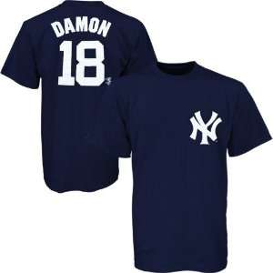 Johnny Damon Navy Blue Preschool Player Name & Number T shirt Sports