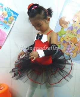 Girl Party Costume Ballet Tutu Jazz Dance Skirt Dress 3 9Y Halloween