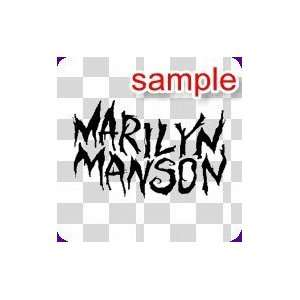 PEOPLE MARLIN MANSON 10 WHITE VINYL DECAL STICKER