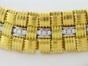 Roberto Coin Appassionata Bracelet 18k Gold & Diamond