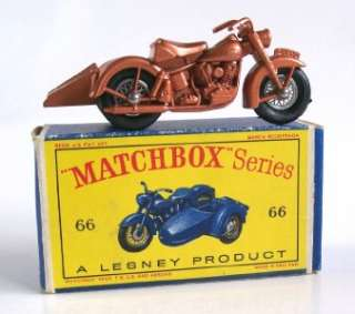 LESNEY 66 HARLEY DAVIDSON MOTORCYCLE and SIDECAR, 1962, MIB