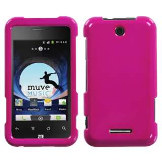 Solid Hot Pink Phone Snap on Hard Case Cover For ZTE X500(Score