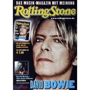 David Bowie   Rolling Stone 2003   CONCERT   POSTER from
