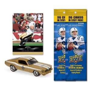 New Orleans Saints 1967 Ford Mustang Fastback Die Cast with Drew Brees