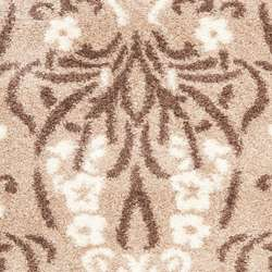 Hand woven Ultimate Beige/ Cream Shag Rug (8 x 10)