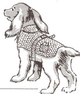 Dog Sweater hood coat puppy pet crochet pattern all szs