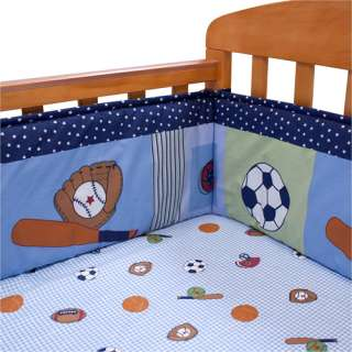 Bedtime Originals   Super Sports Portable Crib Bumper Bedding & Decor