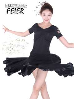 NEW Latin salsa Ballroom Dance Dress #P089 top & skirt