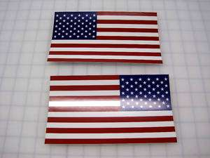 American Flag Decals Stickers   3.5 x 6 1 RH   1LH