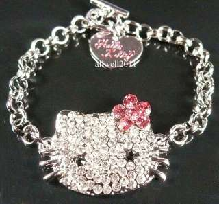 Hello Kitty Crystal Bling Bracelet Fashion jewelry Sparkle Cute