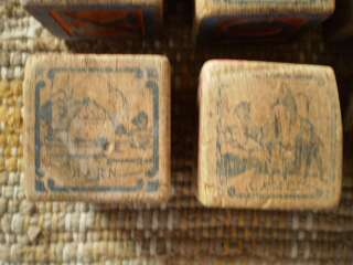 1900s Antique Wood Alphabet Toy Blocks Pics Moose Fire Engine