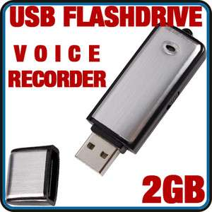 USB FLASH DRIVE VOICE AUDIO RECORDER 2GB COVERT SPY