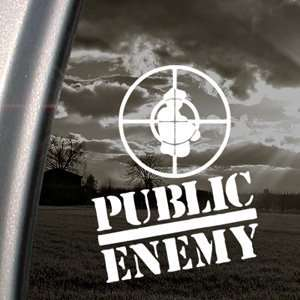 Public Enemy Decal Rap Band Car Truck Window Sticker