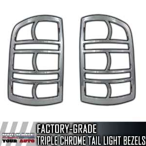 2007 2012 GMC Sierra 2pc Chrome Tail Light Bezels