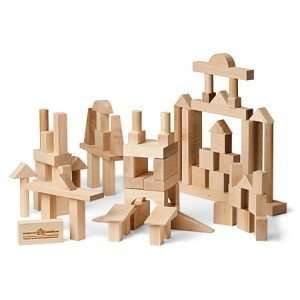 Wooden Building Blocks   Advanced Builder 78 pieces Toys & Games