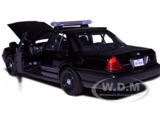 2007 Ford Crown Victoria Police Car Black die cast car by Motormax