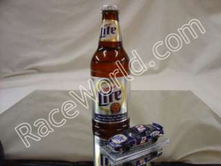 Rusty Wallace 1/64 Miller Lite Bottle with Diecast Car