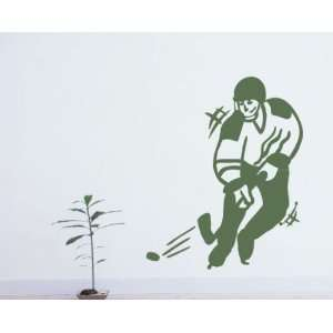 Hockey Player Shooting Sports Vinyl Wall Decal Sticker Mural Quotes