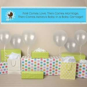 Boy Baby Carriage   Personalized Baby Shower Banner Toys & Games