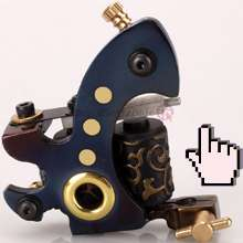 CUSTOM Handmade Tattoo Machine Shader Gun Star 10 Coils
