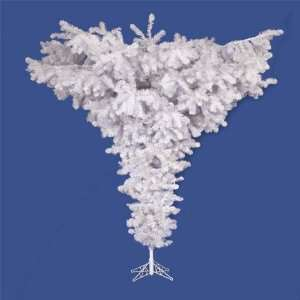 White Upside Down Artificial Christmas Tree   Unlit