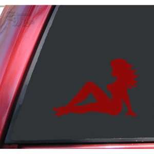 Truckers Mudflap Girl Vinyl Decal Sticker   Dark Red