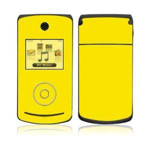 LG Chocolate 3 (VX8560) Skin Decal Sticker   Simply Yellow