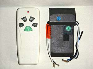 Hampton Bay / Hunter Ceiling Fan Remote Control kit for CFL bulbs