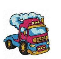 BIG RIGS,SEMI TRAILERS GOLLYGOSH MACHINE EMBROIDERY DESIGNS CD