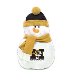 22 NCAA Missouri Tigers Plush Snowman Christmas Throw