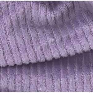 60 Wide Minky Chenille Stripe Lavender Fabric By The