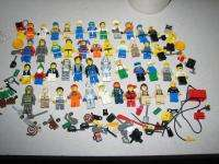 45 LEGO FIGURES MINIFIGURES Lot w/Accessories