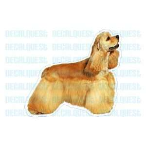 COCKER SPANIEL   Dog Decal  sticker car got window gift
