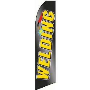 Black/Yellow Extra Wide Swooper Feather Business Flag