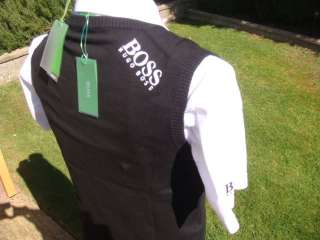 NEW HUGO BOSS WHITE BLACK BLUE PRO GOLF POLO T SHIRT
