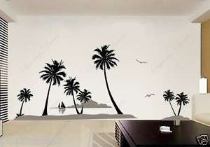 Coconut Trees and Islands  removable vinyl wall decals