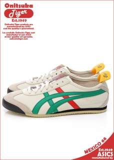 Brand New Asics Onitsuka Tiger Mexico 66 Birch/Green Shoes #T21
