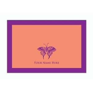 Personalized Stationery Note Cards Set with Butterfly