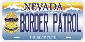 Nevada Border Patrol Novelty Car Auto License Plate