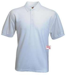 FRUIT OF THE LOOM Polo Shirt Piqué 65/35 S M L XXL XXXL