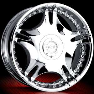 NEW 20X8.5 VCT ZAMANO CHROME WHEELS RIMS 6X5/6X115
