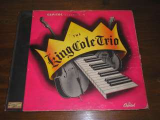 THE KING COLE TRIO   ALBUM COVER CAPITOL BD 8