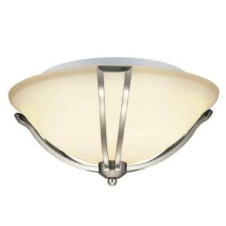 Hampton Bay Gambit 3 Light Flush Mount Satin Nickel Ceiling Light