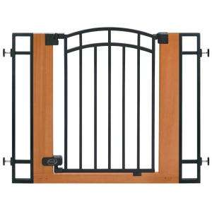 Stylish & Secure Wood & Metal Walk Thru Gate 07534Z