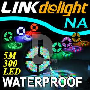 New Waterproof Blue 3528 SMD 300 LED Light 5M Flexible Strip Lamp 12V