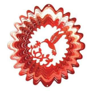 Iron Stop Large Red Hummingbird Wind Spinner 1185 12 3 at The Home