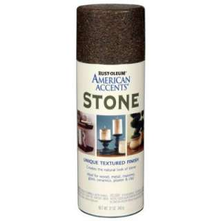 American Accents 12 oz. Stone Textured Finish Spray Paint 238324 at