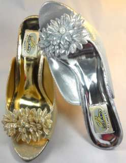 Womens Gold/Silver High Heel Prom Sandal Shoes Sz 5 10