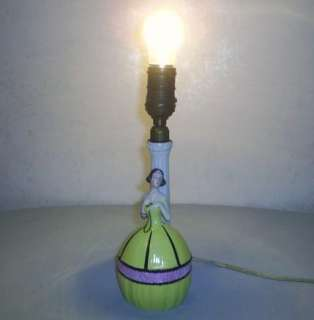 ANTIQUE ART DECO LADY LAMP GERMANY PORCELAIN SITZENDORF